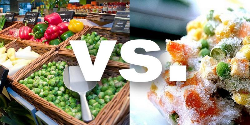Fresh food vs. frozen foods