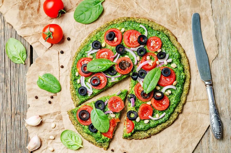 Classic salad pizza